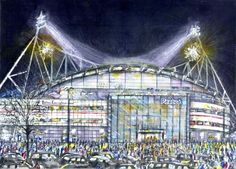 The Reebok Stadium in Bolton by Anthony McCarthy Limited Edition Prints, Reebok, Manchester, Fair Grounds, Drawings, Artist, Travel, Viajes, Artists