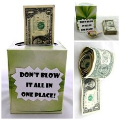 Super Cute--Creative Ways to Give Money - Graduation Gift Ideas