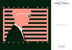 MODERN MAN / ILLUSTRATION / STRIPES - 그래픽 디자인 · 일러스트레이션, 그래픽 디자인, 일러스트레이션, 그래픽 디자인, 일러스트레이션