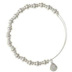 Alex and Ani Nile Expandable Wire Bangle Shiny Silver