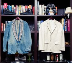 """""""[The three things every man should have in his closet are] a cashmere sweater, a tailored suit and a pair of fitted denim jeans."""""""