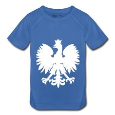 Polska Kinder Shirt Royal Blau (Weiß/Glatt) - Kinder Funktionsshirt
