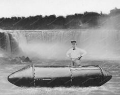 Bobby Leach & Barrel Niagara Falls 1910 8x10 Reprint Of Old Photo