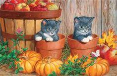 180pc Pumpkin Kittens jigsaw puzzle   Cobble Hill Puzzle Company