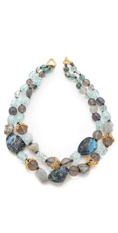 Alexis Bittar Mauritius Stone Necklace