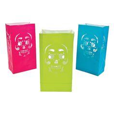 Day+of+the+Dead+Luminary+Bags+-+OrientalTrading.com Dia de los muertos
