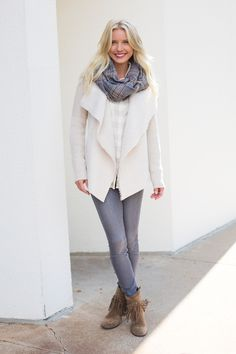 Shearling is a hot texture for fall. Spice up your closet (and stay warmer) by opting for the jacket instead of a vest. #Evereve
