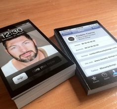 iPhone Business Cards... Clever.