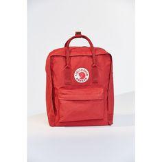 Fjallraven Kanken Backpack (£63) ❤ liked on Polyvore featuring bags, backpacks, fjallraven bag, woven backpack, shoulder strap bags, fjällräven and fjallraven backpack
