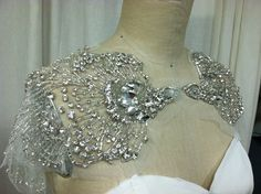 Phoenix Capelet by Carol Hannah Just in case you fall for a strapless dress but don't want to show the shoulders
