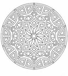 geometric coloring pages advanced nature - photo#44