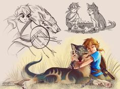 """lisannedoodles: """"  Will Link be able to pet wolf Link?? And if he can will this break the space time continuum how is Nintendo gonna explain this """""""