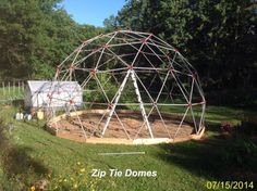 Insulated Geodesic Greenhouse Kit for Sale - Dual Covering Geodesic Dome Greenhouse Kit by Zip Tie Domes Geodesic Dome Kit, Geodesic Dome Greenhouse, Build A Greenhouse, Greenhouse Ideas, Homemade Greenhouse, Outdoor Greenhouse, Cheap Greenhouse, Portable Greenhouse, Chicken Coop Kit