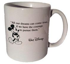 Mickey Mouse Disney All our dreams can come true... by MrGoodMug, $14.99 m All our dreams can come true ceramic coffee mug #mickeymousecoffeemugs #disney #mickeymousemug