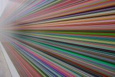 Gerhard Richter Artist Painting Stripes Streifen Und Glas Kunstmuseum Winterthur Switzerland