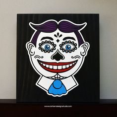 Sugar Skull Tillie Clown Wood Sign with by CarbenDesignStudio