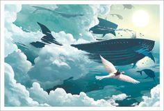 Kazu Kibuishi - Print - Passing Ships - Nucleus | Art Gallery and Store