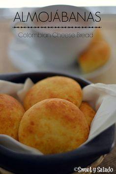 Sweet y Salado: Almojábanas (Colombian Cheese Bread) Colombian Desserts, Colombian Dishes, My Colombian Recipes, Colombian Cuisine, Filipino Desserts, Columbian Recipes, Types Of Bread, Comida Latina, Cheese Bread