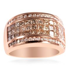14K Rose Gold Champagne  Diamond Jewelry Love rose gold
