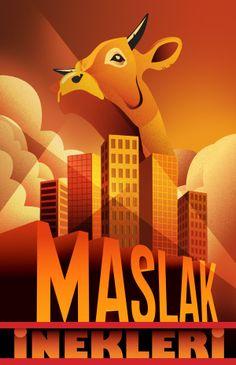 MASLAK INEKLERI / Discovering Art Deco Style by Derya Durmaz, via Behance