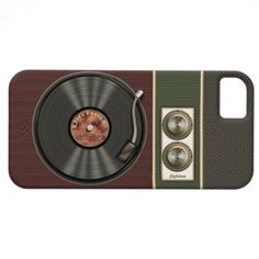 We love this Vintage Vinyl Record Player iPhone 5 Cover!