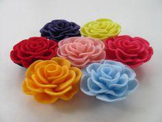 Rose Pattern TIFFANY ROSE No Sew Felt Flower by SewYouCanToo