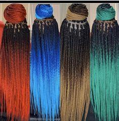 Box Braids Hairstyles, Black Girl Braids, Braided Hairstyles For Black Women, Braids For Black Women, Braids Wig, Braids For Black Hair, African Hairstyles, Afro Ponytail, Ombre Box Braids