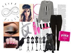 """""""pink and black"""" by scoutplymale3 on Polyvore"""