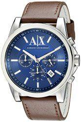 d221d8fe0668 Armani Exchange Men s AX2501 Analog Display Analog Quartz Brown Watch. Reloj  De ...