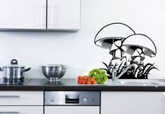 Wall Stickers Kitchen Agaricus - wall-art.com