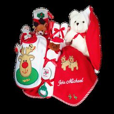 Its christmas time personalized baby gift basket personalized merry christmas personalized baby gift basket negle Image collections