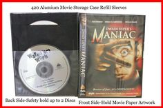 50 Pk Sleeves for DVD Blu-Ray Movie Storage Case Replacement: Keep discs dust and scratch free, space saver, front holds movie paper artwork and back holds 2 discs Movie Storage, Cd Dvd Storage, Blu Ray Movies, Thing 1, Paper Artwork, Dvd Blu Ray, Dvd Cases, Sleeves, Black Office