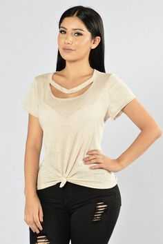 - Available in Charcoal and Oatmeal - Basic Tee - Loose Fit - Round Neckline…