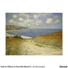 Path in Wheat at Pourville Monet Fine Art Poster