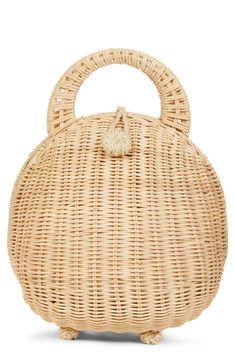 Cult Gaia Millie Rattan Clutch available at Rattan, Wicker, Cheap Designer Bags, Cute Purses, Unique Purses, Handbags On Sale, Gaia, Evening Bags, Straw Bag