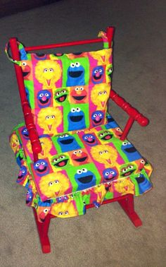 Reupholstered Krysta's baby chair for Scarlie