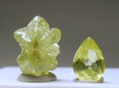 Chrysoberyl, crystal and gemstone.