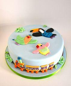 3rd & Bird round cake.