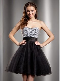 Homecoming Dresses - $141.99 - Empire Sweetheart Short/Mini Tulle Charmeuse Homecoming Dress With Beading http://www.dressfirst.com/Empire-Sweetheart-Short-Mini-Tulle-Charmeuse-Homecoming-Dress-With-Beading-022020891-g20891