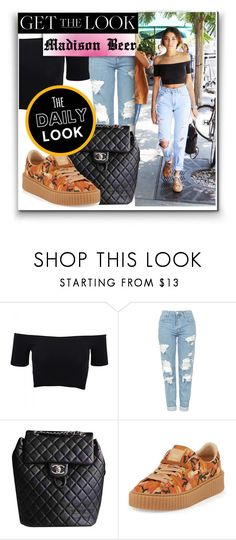 """""""Get The Look : Madison Beer"""" by narminabasoffa ❤ liked on Polyvore featuring American Apparel, Topshop, Baldwin, Chanel and Puma"""