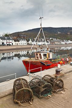 Boat at Ullapool Harbour ~ Ullapool, Scotland, United Kingdom by Bart Heirweg Creative Photos, Cool Photos, Scotland Travel, British Isles, Fishing Boats, Glasgow, Britain, United Kingdom, Beautiful Places