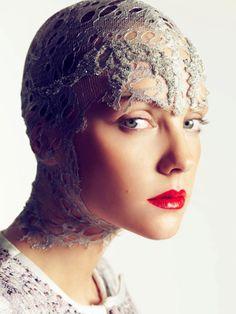Alexander McQueen.  Photographer: Nico.  Model: Heather Marks.
