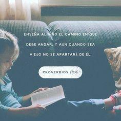 Educa a tu hijo desde niño y aun cuando llegue a viejo seguirá tus enseñanzas. Proverbios 22:6 @youversion @ibvcp #buenosdias #islademargarita #venezuela