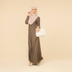 INAYAH | Mink Abaya With Flare | Nude Maxi Georgette | www.inayahcollection.com…