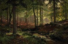 Im Wald von August Richter - Künstlerdatenbank - VAN-HAM ...