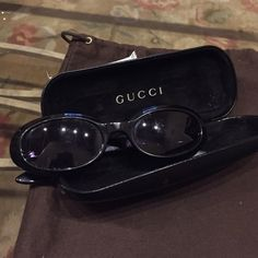 Authentic Gucci sunglasses Awesome pair of black Gucci sunglasses. They are thick and super durable. Love the darker look. Very 90's Gucci Accessories Sunglasses