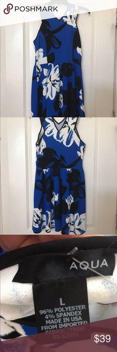 Gorgeous Aqua dress size L NWT!!! Gorgeous Aqua dress size L, brand new with tags! Aqua brand is from Bloomingdales. Comes from smoke free home. Aqua Dresses
