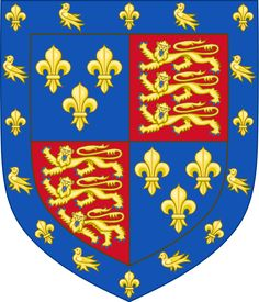 Arms of Edmund Tudor, Earl of Richmond. Coat of arms of Edmund Tudor, 1st Earl of Richmond. Although a half brother of Henry VI of England, he had no right to the arms other than as a grant as he and the king shared a mother.