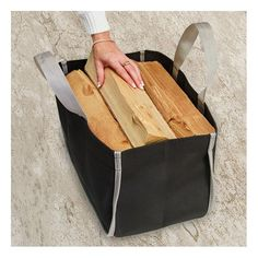 FOR HIM | Tuff Duck Firewood Bag in Black or Brown   £21.50 (Standard) or £25.00 (large) from www.robeys.co.uk