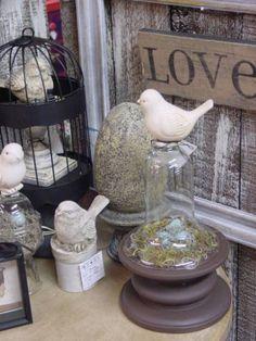 Love these shabby chic birdies!